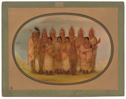 Iowa Indians Who Visited London and Paris