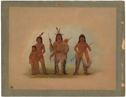 Spokan Chief, Two Warriors, and a Boy