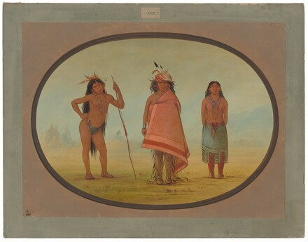 Cochimtee Chief, His Wife, and a Warrior