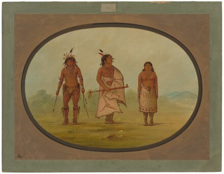 Mohave Chief, a Warrior, and His Wife