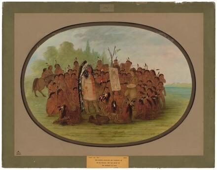 Catlin Painting the Portrait of Mah-to-toh-pa - Mandan