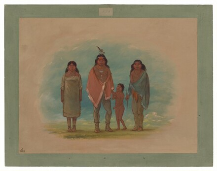 Patagon Chief, His Brother, and Daughter