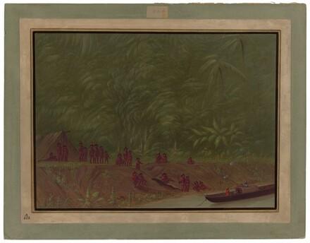 A Mura Encampment - Boat Sketch