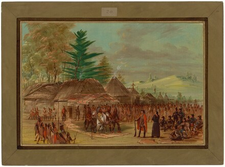 Chief of the Taensa Indians Receiving La Salle.  March 20, 1682