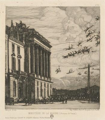 Le Ministère de la Marine, Paris (The Admiralty, Paris)