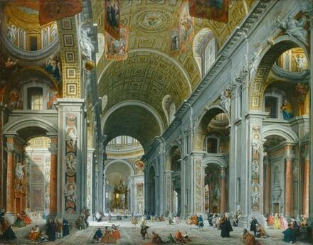 Interior of Saint Peter's, Rome