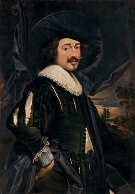 Portrait of a Man in a Wide-Brimmed Hat