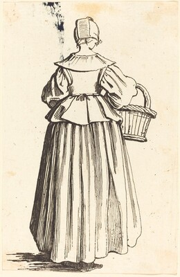 Peasant Woman with Basket, Seen from Behind