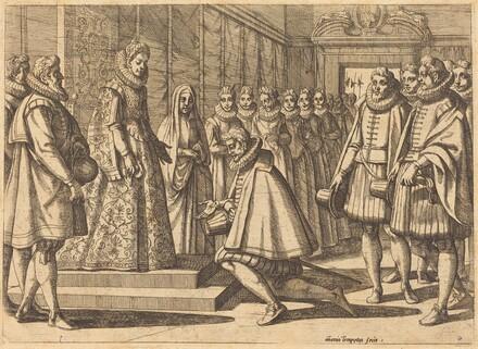 Philip of Spain before Margaret of Austria