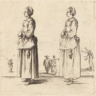 Peasant Woman, in Profile, Facing Left