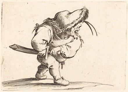 Man Preparing to Draw his Sword