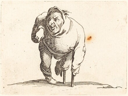 Cripple with Crutch and Wooden Leg