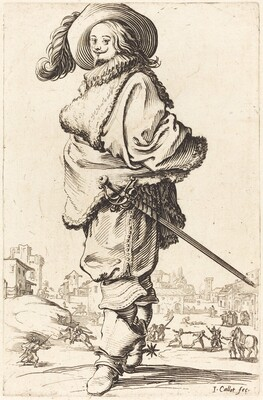 Noble Man with Fur Plastron