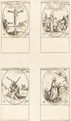 St. Eulalia; St. Fusca and Maura; St. Valentine; St. Anthony