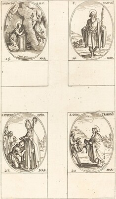 The Annunciation; St. Castulus; St. Rupert; St. Gontran