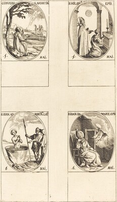 Conversion of St. Augustine; St. Hilary; St. John in front of the Latin Portal; St. J