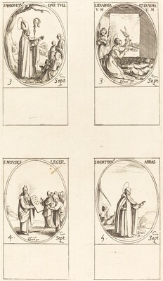 St. Mansuetus; Sts. Serapia and Erasma; Moses; St. Bertin, Abbot