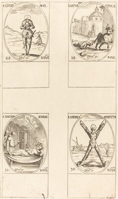 St. Liverius; St. Saturninus; St. T(I?)oscion; St. Andrew
