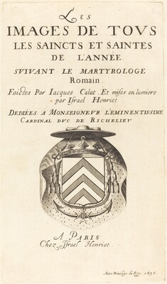 Title Page for Callot's The Calendar of Saints