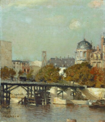 Paris Scene with Bridge