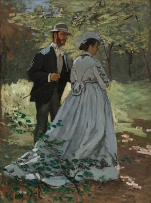 Bazille and Camille (Study for Déjeuner sur l'Herbe)