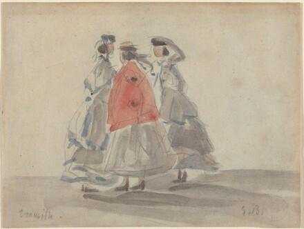 Three Women at Trouville
