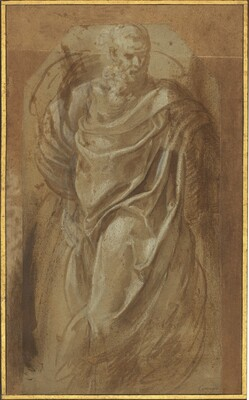 A Standing Man in Classical Drapery