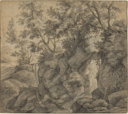 Landscape with a Wooded Ravine