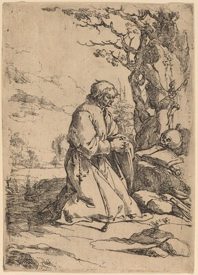 The Kneeling Hermit Facing Right