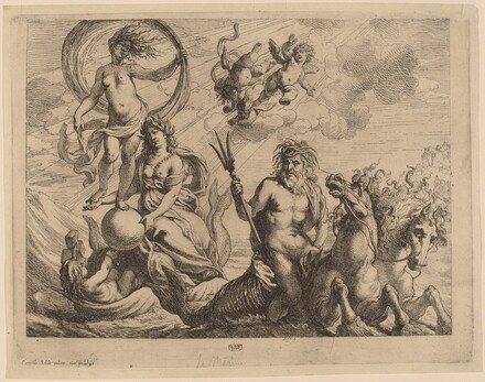 Neptune with Two Horses on the Sea