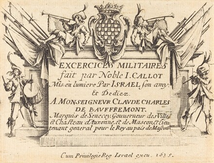 Title Page for The Military Exercises