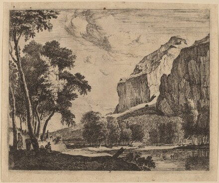 Riverscape with Rocks on the Right: pl.3