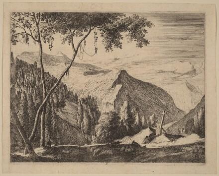 Rocky Landscape with Cross: pl.5