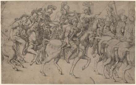 Riders Carrying Bows and Javelins