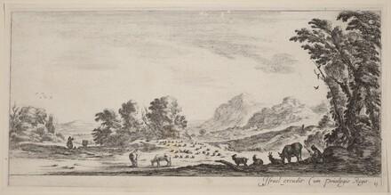 Landscape with Shepherd Guarding his Flock