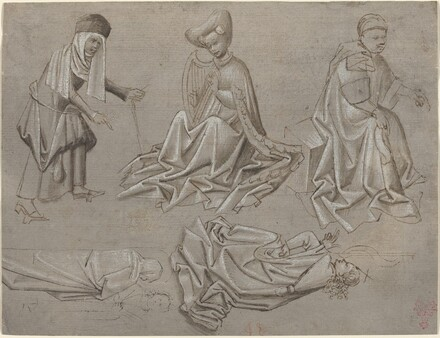 Studies for Six Figures (sheet from a model book) [recto]