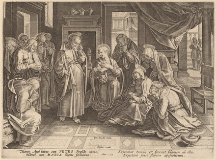 The Meeting of the Apostles and the Women in the Upper Room