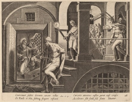 The Jailer about to Kill Himself, Converted by Saint Paul