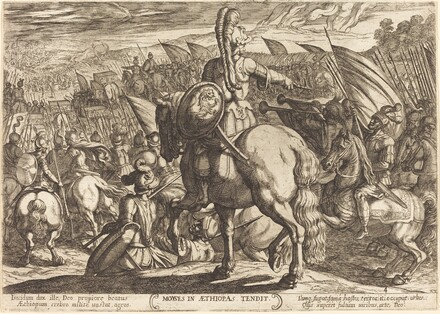 Moses makes the Hebrew army march against the Ethiopians