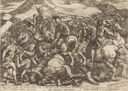 The Defeat of the Amalikits by the Hebrews
