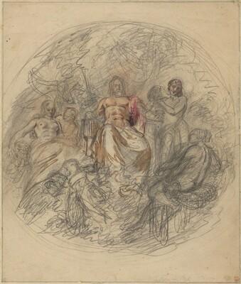 Study of Jove and Three Goddesses