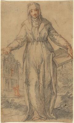 Female Saint (Saint Clare of Assisi or Saint Catherine of Siena?)