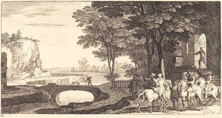 Landscape with Horsemen and Bridge