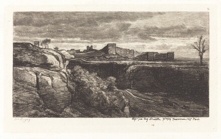 Ruins of the Chateau of Cremieux (Les Ruines du chateau de Cremieux)