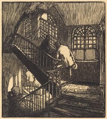 Escalier de la maison ou etait le Chateau Rouge