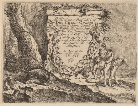 Title Page: Pedestal and a Pair of Dogs