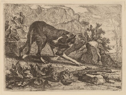 Landscape with Greyhound and Rifle