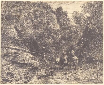 Horseman and Vagabond in the Forest (Le Cavalier en forêt et le piéton)