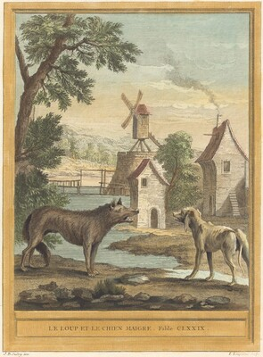 Le loup et le chien maigre (The Wolf and the Thin Dog)