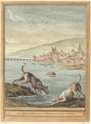 Les deux chiens et l'ane mort (Two Dogs and the Dead Donkey)
